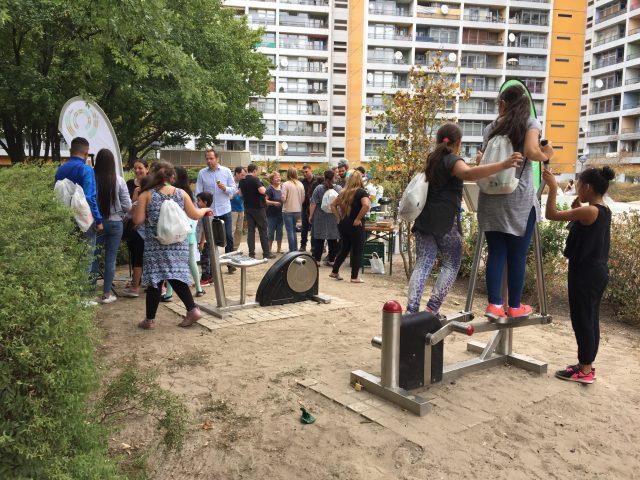 Neuer Bewegungsparkour am Mehringplatz